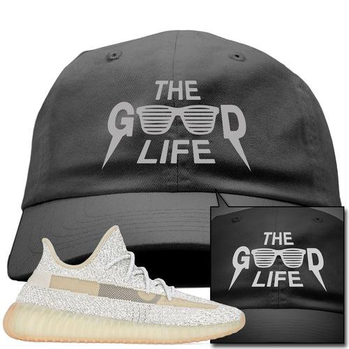bc193e791 Cope this dope Sneaker Match Good Life Dark Gray Dad Hat to match your Adidas  Yeezy Boost 350 v2 Lundmark Reflective!