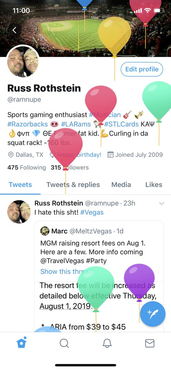 Thanks @Twitter for the birthday love. #711Day
