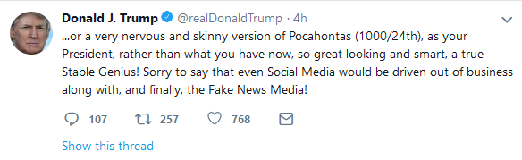 Yes, hail to the great looking and smart stable genius who just deleted the first incarnation of this tweet because he doesn't know how fractions work. <br>http://pic.twitter.com/eojYZ6Q5Br