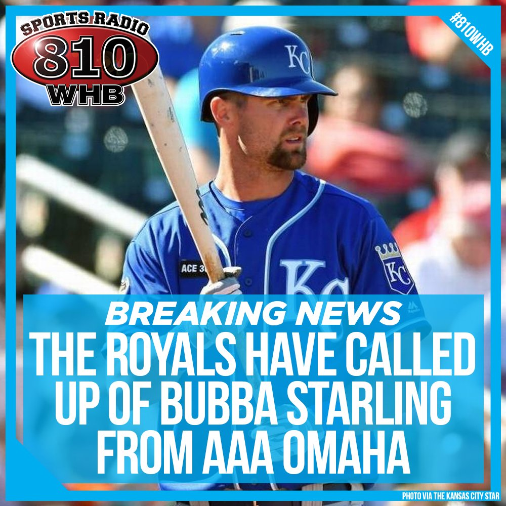BREAKING: The Kansas City Royals have called up OF Bubba Starling.