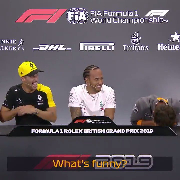 Funniest press conference of all-time?! 😂  #BritishGP 🇬🇧 #F1 @LandoNorris @danielricciardo
