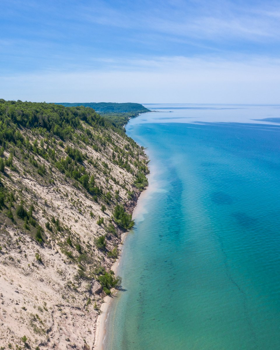 A1. With views like this, you can't beat the famous M22! Did you know it begins in Manistee County?#PureMichiganChat #MyManistee