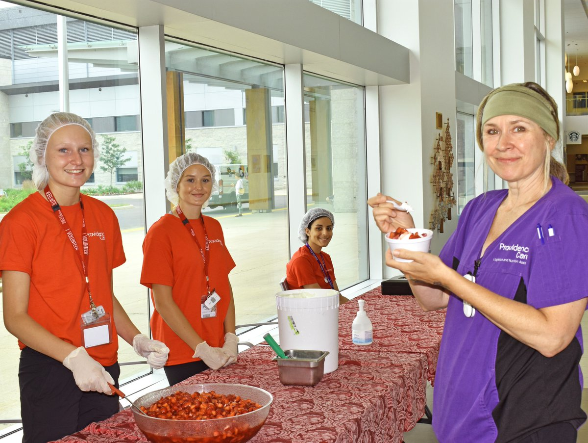 test Twitter Media - Strawberry sundaes served with a smile (say that five times fast)! Our Summer Youth are holding their annual Strawberry Social at Providence Care Hospital today until 2 p.m. Swing by and treat yourself to a sweet treat! All proceeds support Providence Care's Patient Comfort Fund. https://t.co/h4tay1bw1p
