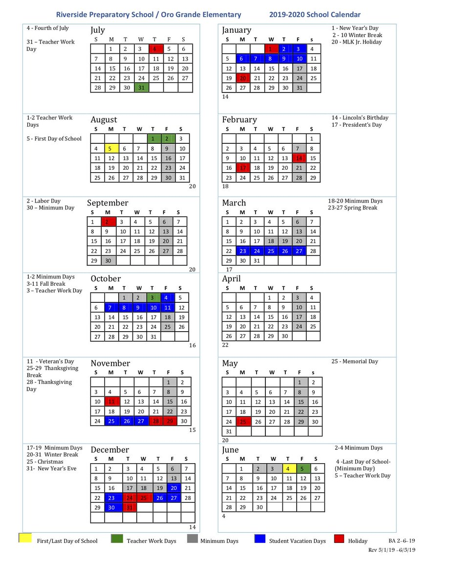 When Is The First Day Of Fall 2020.The Orograndesd Riversideprep Morivacademy Calendars