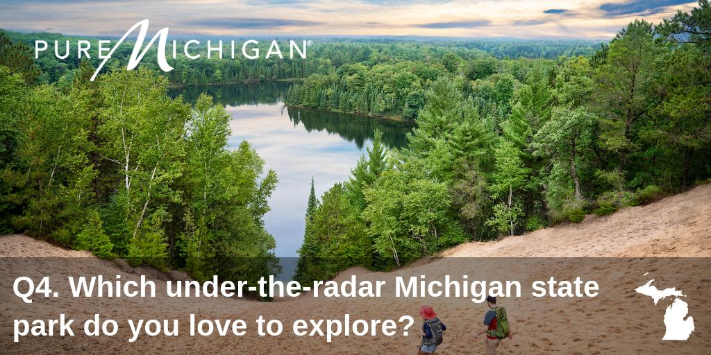 Q4. We've been celebrating the 100th anniversary of @MIStateParks all summer long. #PureMichiganChat #PureMichigan