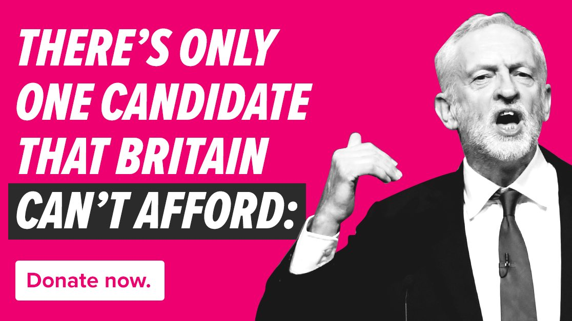 Whoever wins this leadership election, the @Conservatives will have to unite and take on Jeremy Corbyn. To do that, I hope you will support our efforts to protect the country from a hard-left Corbyn government.  Donate here > http://conservatives.com/donations/leadersfund…