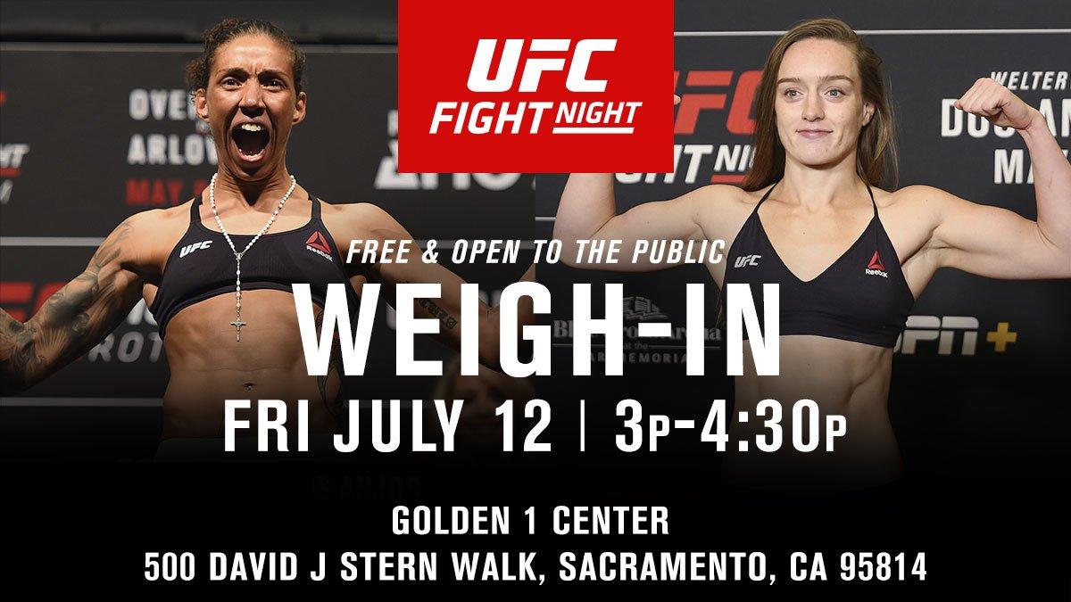Sacramento!  We'll see you tomorrow at @Golden1Center! #UFCSacramento https://t.co/fW2AOg71Vy