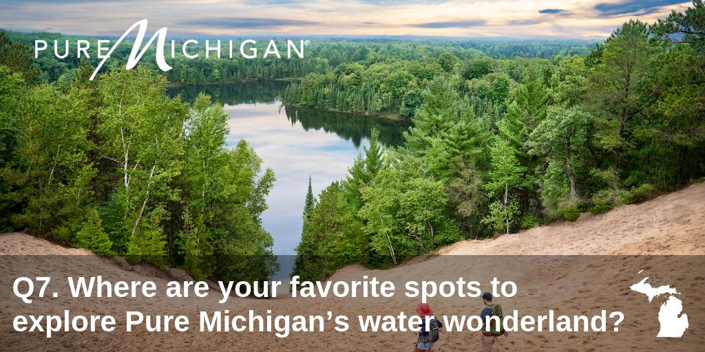 Q7. Nothing beats the tranquility of a peaceful paddle in a quiet corner of #PureMichigan. #PureMichiganChat