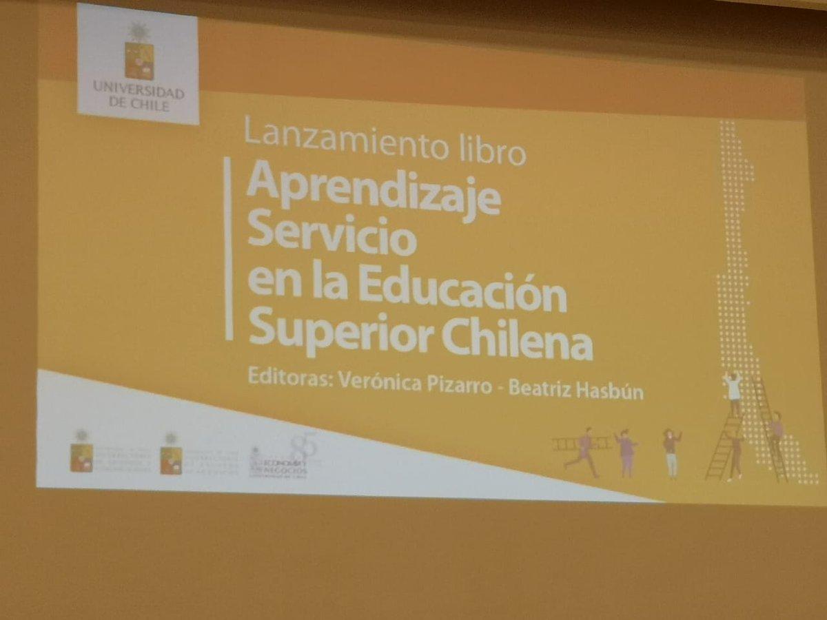 Lanzamiento libro Aprendizaje Servicio en la Educación Superior Chilena, en el cual 17 Instituciones participan dando cuenta de su experiencia en la implementación de la metodología #AprendizajeServicio en Educación Superior, entre estas @faceubb @ubbchile @Deptogestion https://t.co/VDAyNOZFhs