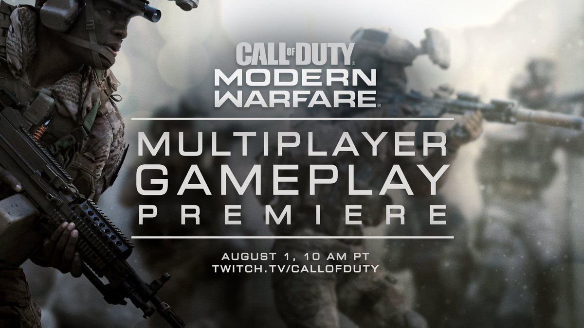 And now...that's all from today's Gunfight stream!Tune in August 1 at 10AM PT for the full reveal of the #ModernWarfare MP mode. https://charlieintel.com/call-of-duty-modern-warfare-multiplayer-reveal-date/55288/ …