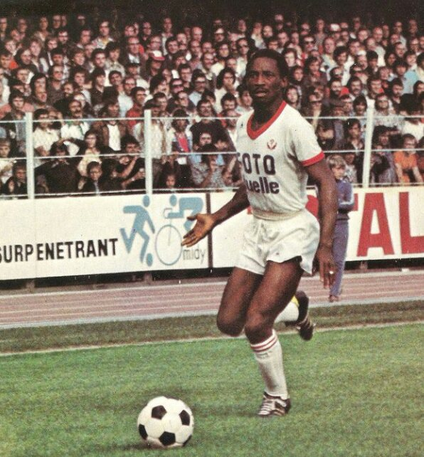 TRIBUTE to the Late Former Ivory Coast Striker Laurent Pokou (1947-2016)who still Holds the Record of the Highest Number of Goals Scored by one Man in One Match.He scored 5 Goals for #LesÉléphants in 1970 AFCON against Ethiopia #AFCON2019 #CIVALG  https:// bit.ly/2N2DMz4      #ALGCIV <br>http://pic.twitter.com/hCnBJlTJYH