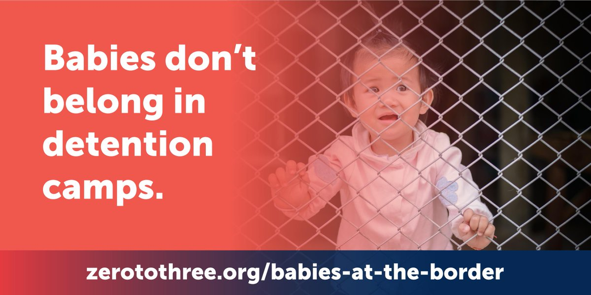 We cannot ignore the trauma happening to #babies in #detentioncamps. Every minute matters to their future. @GOPOversight and @OversightDems, babies and #toddlers at the border need your urgent action. http://www.zerotothree.org/babies-at-the-border …