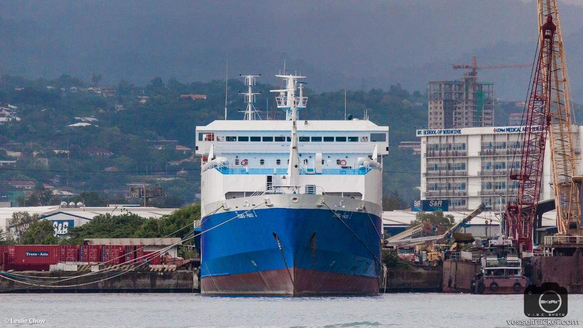"""July 10 a fire broke out aboard #roroship """"Trans-Asia 1"""" while docked at Cruz Wharf in Cebu, Philippines. No oil spills have been reported, check out the #vessel's historical track w/ @Genscape #Vesseltracker: https://bit.ly/2hKyLM9"""