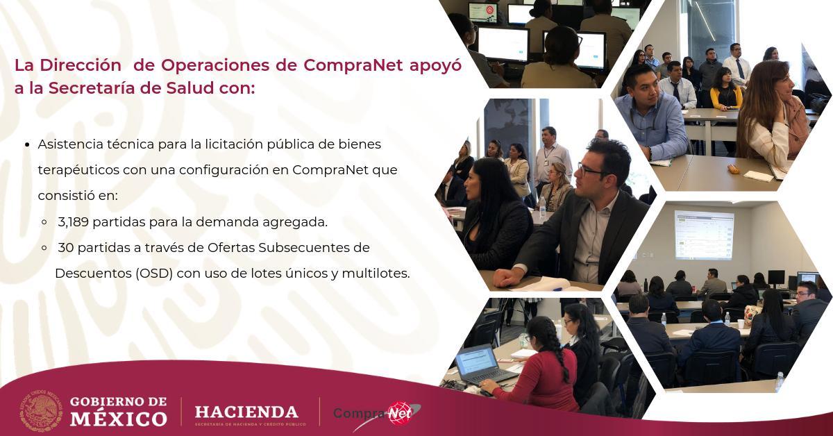 Continuamos fortaleciendo el sistema de compras del #GobiernoDeMéxico brindando asesoría y asistencia técnica a sus dependencias. @Hacienda_Mexico #LaNuevaHacienda