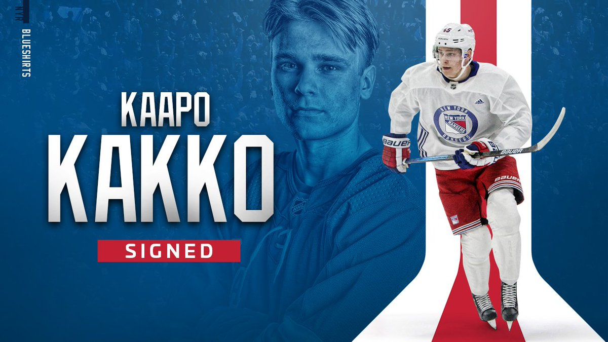 OFFICIAL: #NYR have agreed to terms with forward Kaapo Kakko on an entry-level contract. <br>http://pic.twitter.com/gX1JkpWk8k