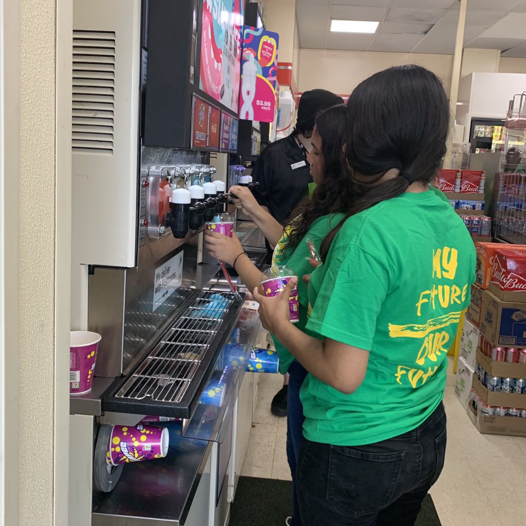 Pro teacher tip: Plan a camp field trip on 7/11 and on the way home take the whole bus of kids to get free slurpees #7ElevenDay #WeAreRPS