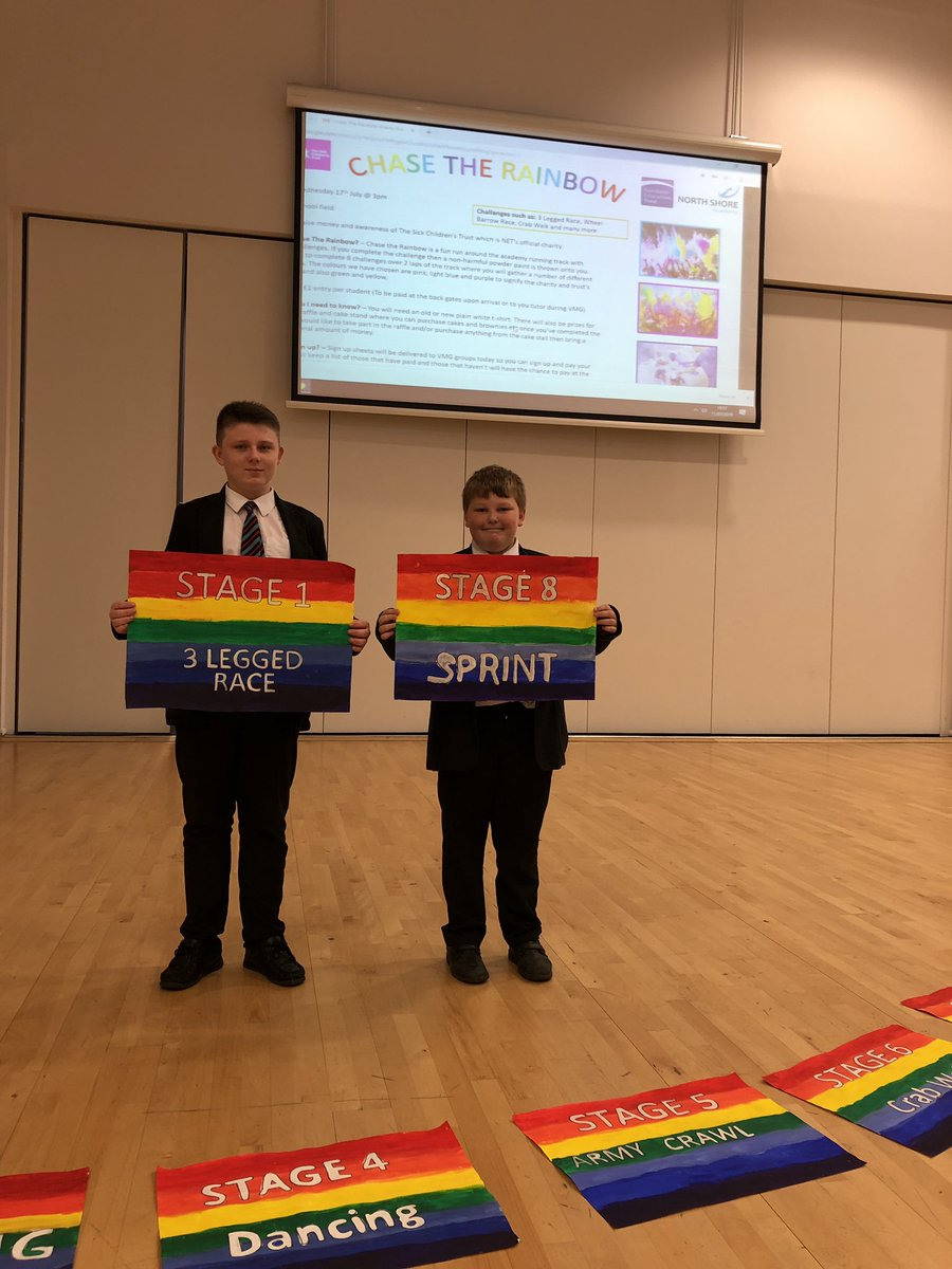 Isaac and Alfie have been spreading the word this week in assemblies and VMG regarding their PLC Social Action Project Event. #welldoneboys #proud #fundraising #Awareness @MFCFoundation 🌈🌟🗣