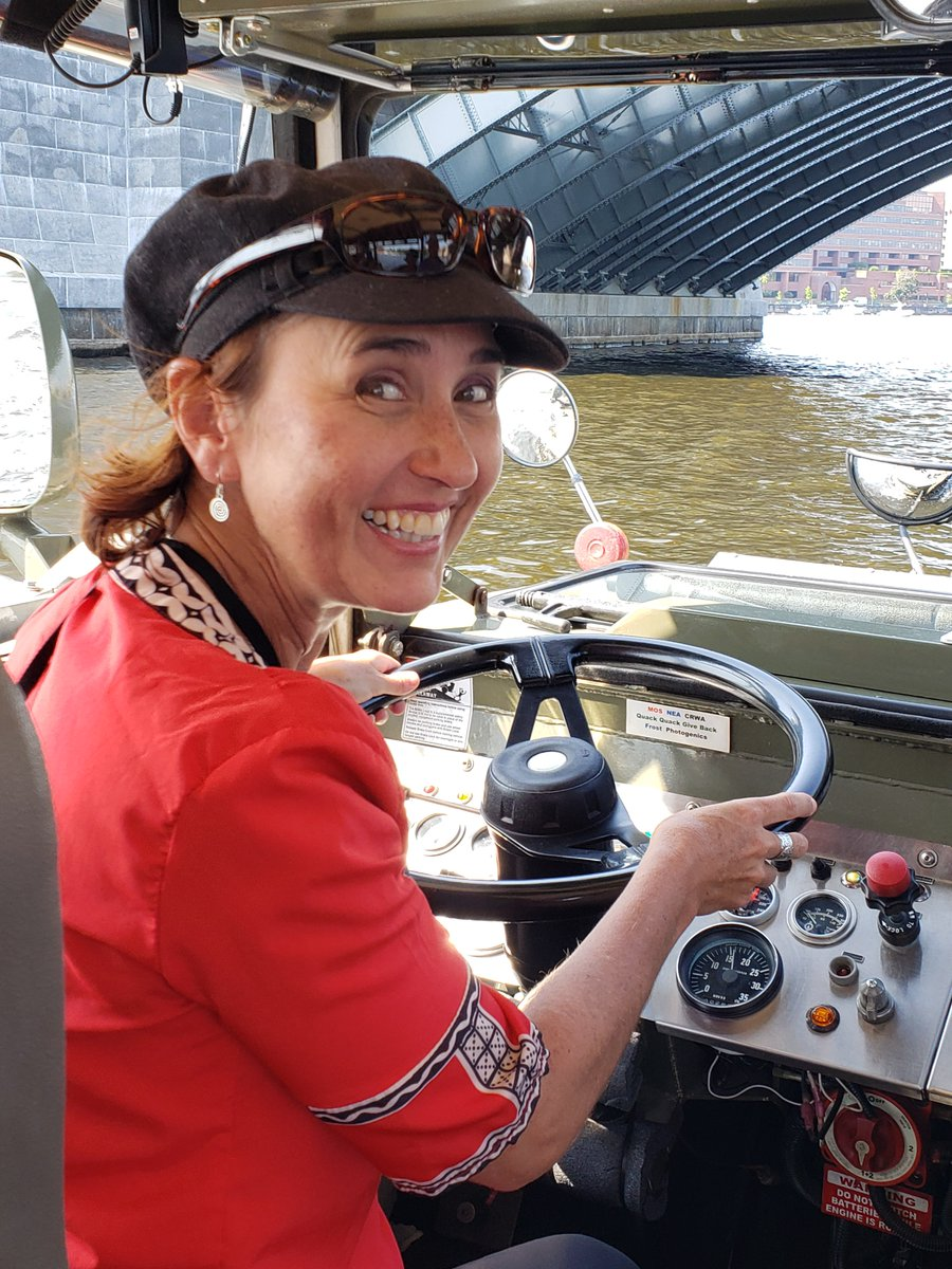 """Hi #culturetrav - This is Heidi coming to you from #Boston, my ole stomping grounds from '99-'04. I decided to go for a Duck Tour upon arrival. The guide asked if I wanted to drive I said, """"Absolutely!"""" #travel #adventure"""