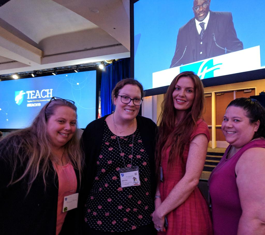 We thought we'd go ahead and point this out one more time, but it's summertime and beautiful outside in DC, and 1000s of teachers from across the U.S. are inside for three days, learning of ways to excel at their craft: teaching kids. #teach19 #PD conference