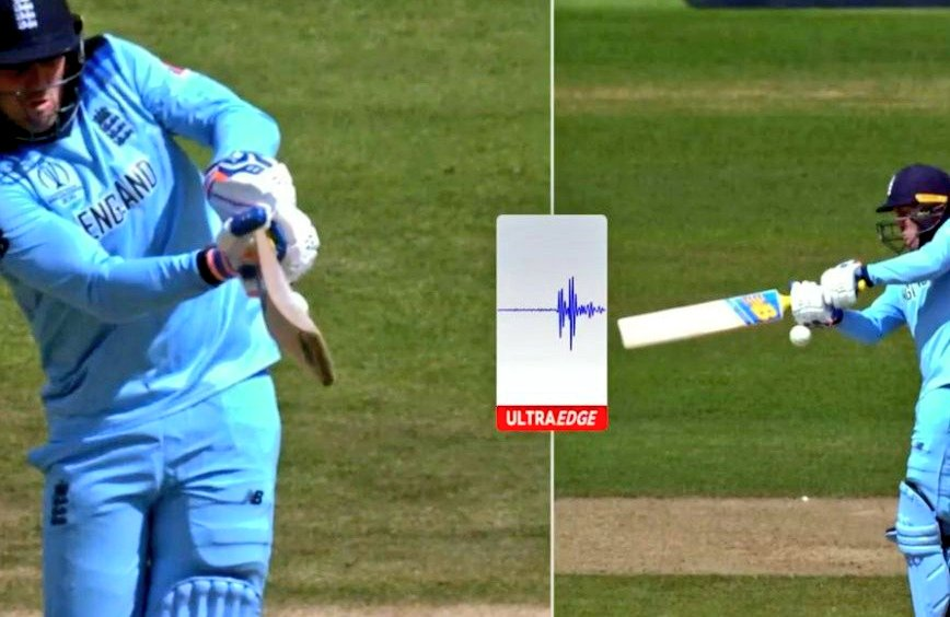 Umpires can consult the third-umpire to decide if the ball went for a 4 or 6 but can't consult him to check if the batsman has nicked it or not? 2 runs are more important than a wicket?  #ENGvAUS #ENGvNZ   NOTOUT                       OUT<br>http://pic.twitter.com/1v0E531nc5