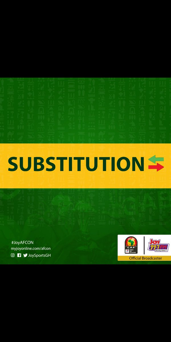 120+2' | final change for Algeria   Feghouli comes off for Delort   #JoyAFCON #TotalAFCON2019  #AFCON2019 <br>http://pic.twitter.com/hNTYmMxFyH