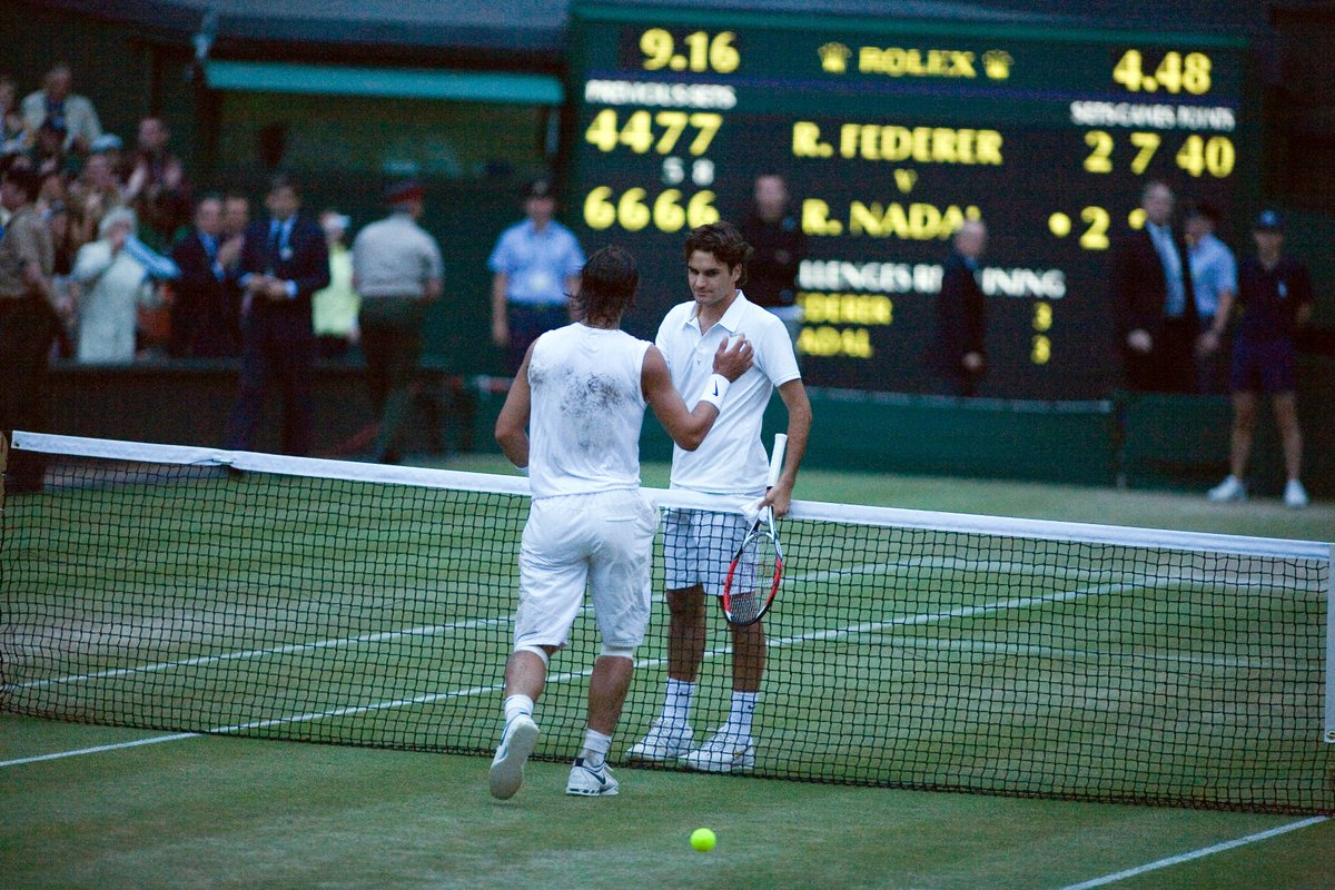 Federer vs Nadal. At #Wimbledon. On Centre Court.   What are your favourite memories? Share with us your stories in our Facebook group ahead of their clash   https://www. facebook.com/groups/JoinThe Story   …   #JoinTheStory <br>http://pic.twitter.com/qEqT1YFYLD