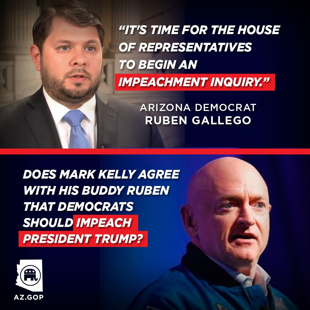 Mark Kelly told voters he needed Gallegos support because of his expertise on the issues facing Arizonans. So does he agree with Rep. Gallegos call to impeach President Trump? #RadicalDemocrats