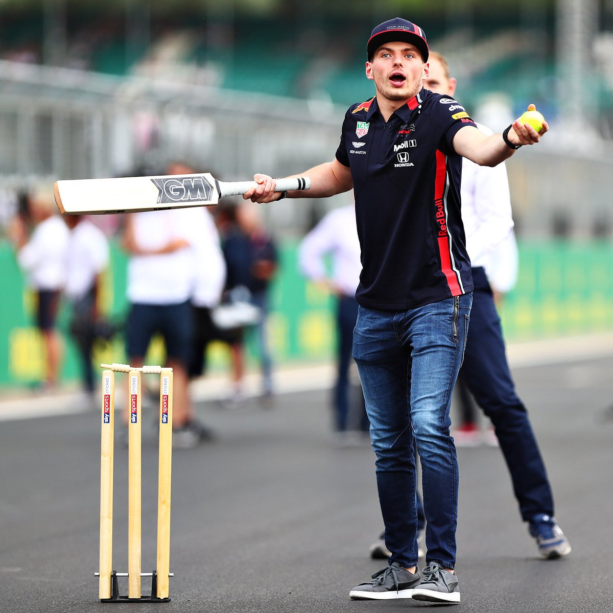 I guess I'll better stick to racing 😂 #cricket #BritishGP 🇬🇧
