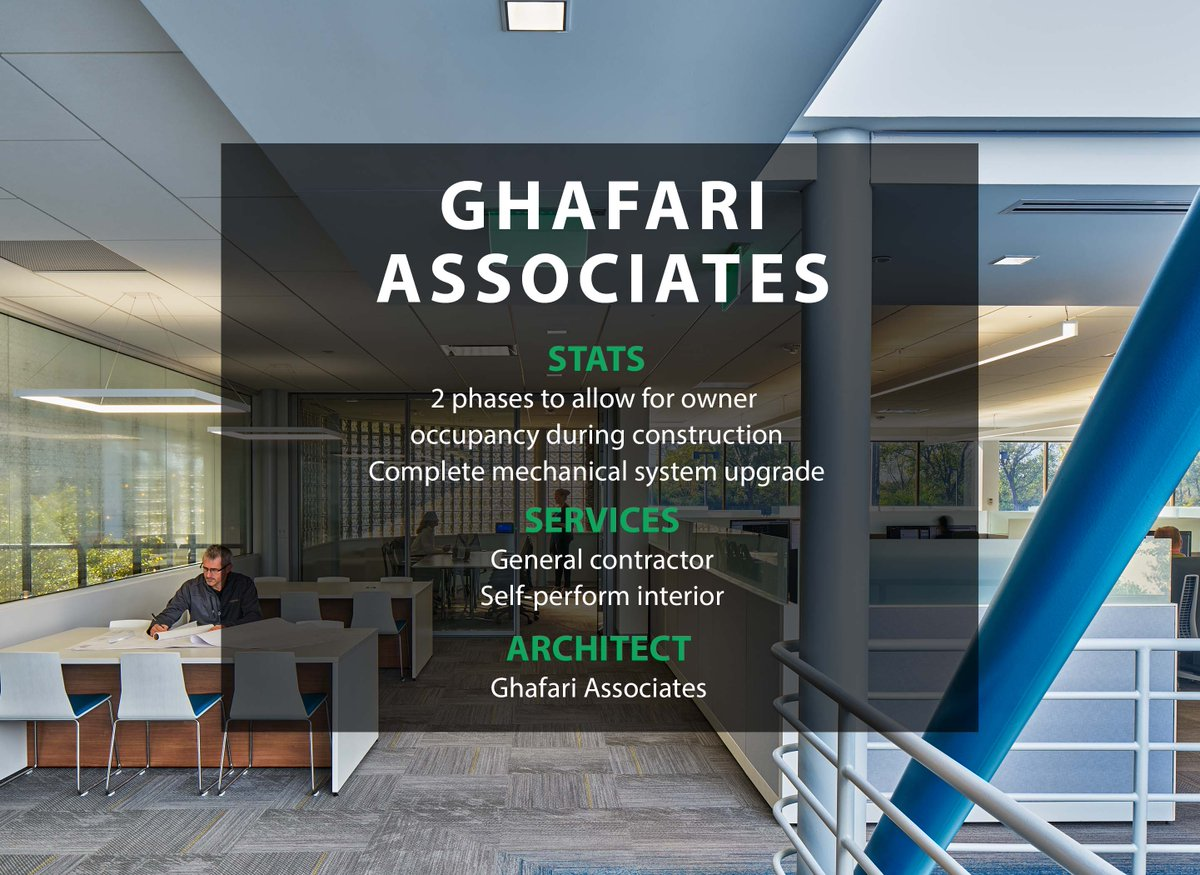 test Twitter Media - #ThrowbackThursday to the renovation of the Ghafari Associates offices in Dearborn. Fun Fact: a 3D scan of the space was performed to ensure coordination with MEP disciplines! Click the link to read more: https://t.co/kU5hZcyK0y https://t.co/EcBD0OoIj5
