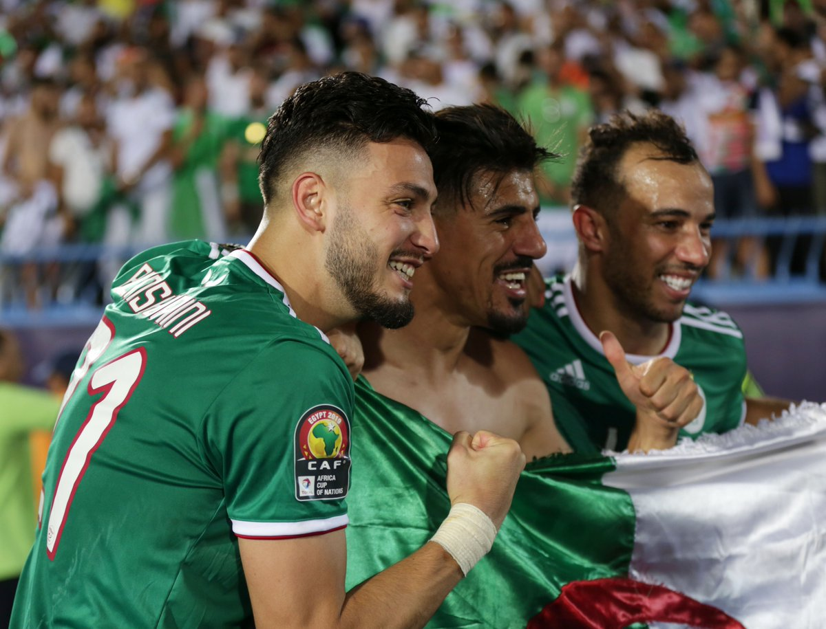 #LesVerts did this for you, Baghdad Bounedjah 🙌  #TotalAFCON2019 https://t.co/VMw31Sc2sP