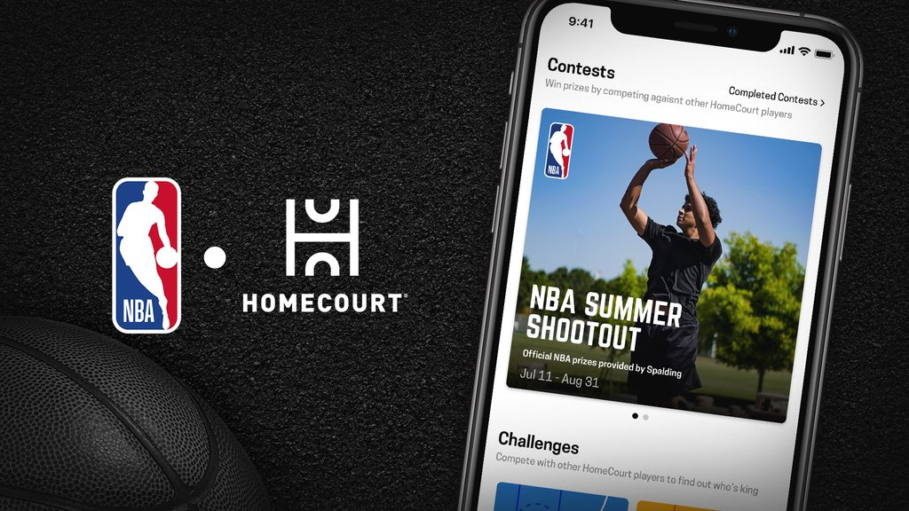 Download the @HomeCourtai app to enter the NBA Summer Shootout and rack up as many points as you can in 1 minute for a chance to win a Spalding basketball #HomeCourtNBA   📱: https://t.co/UDs3ZElAci https://t.co/Y6I7uZ6v9R