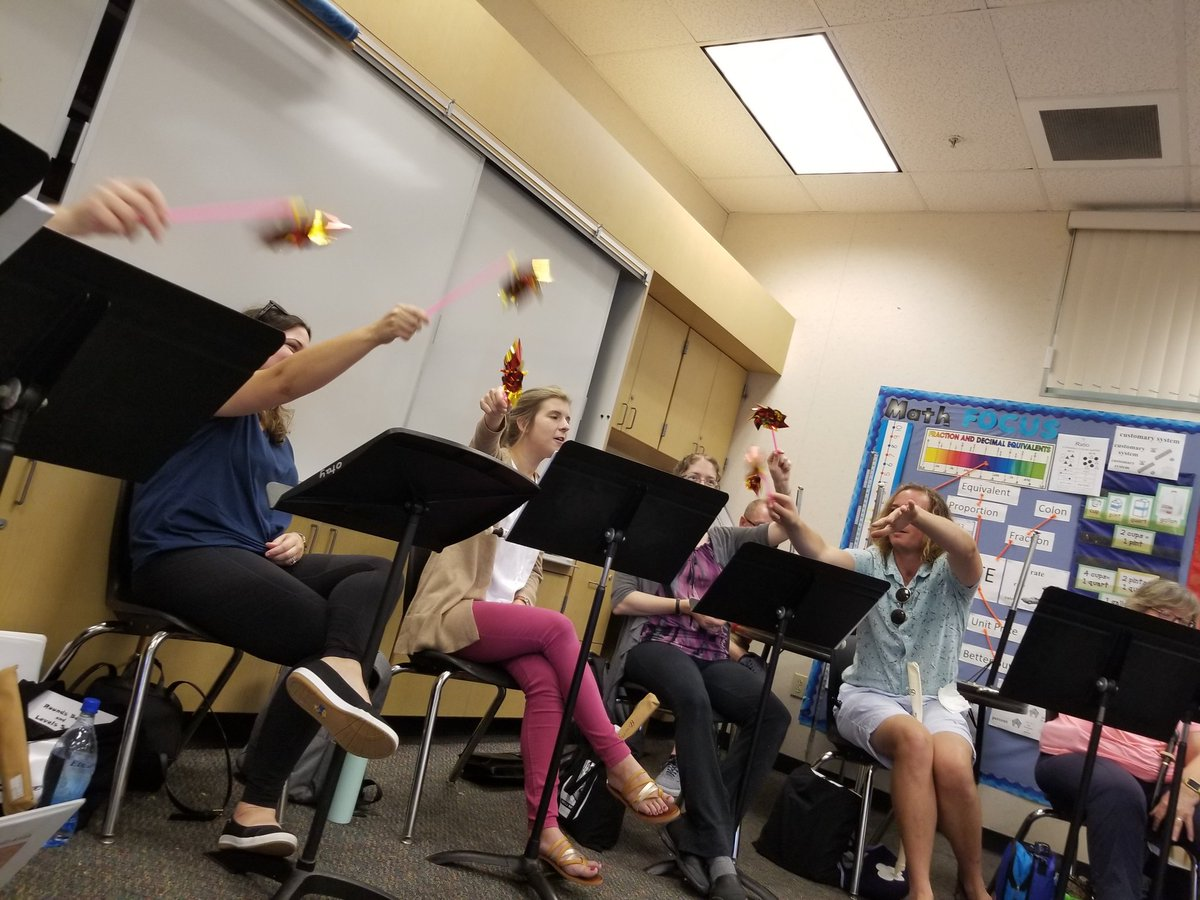 Why tell the kids to blow gently, like on a pinwheel, when you can get them out and try it yourself?! #OrffPD2019 @VAPA_CVESD @aosa1968 #summerofschulwerk #teachersinsummer <br>http://pic.twitter.com/qoVgF0CDpG