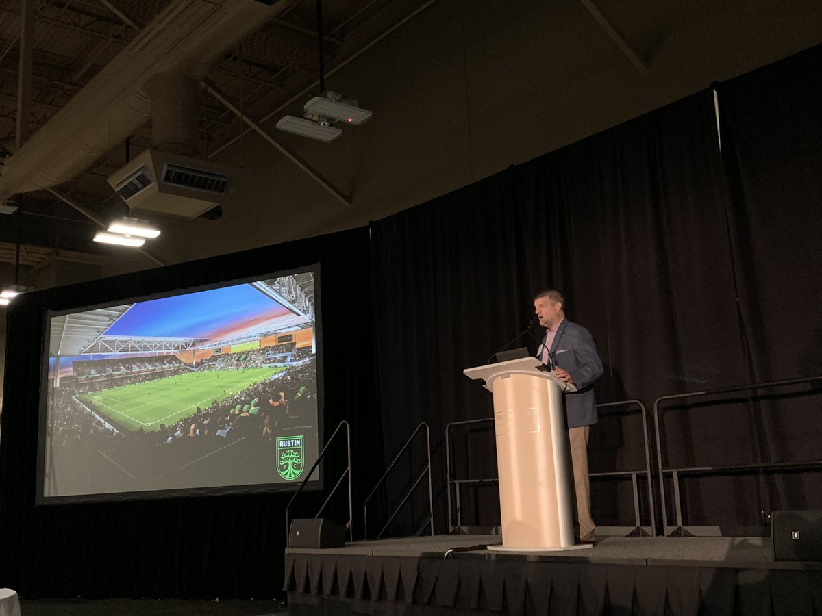 Great information was shared at today's @AustinFC Construction Kick Off Luncheon — was excited to see our @GAHCC Members in attendance learning how they can become involved with the construction process. #GAHCCfamilia #GrowTheLegend – at TXRD at the Palmer Events Center