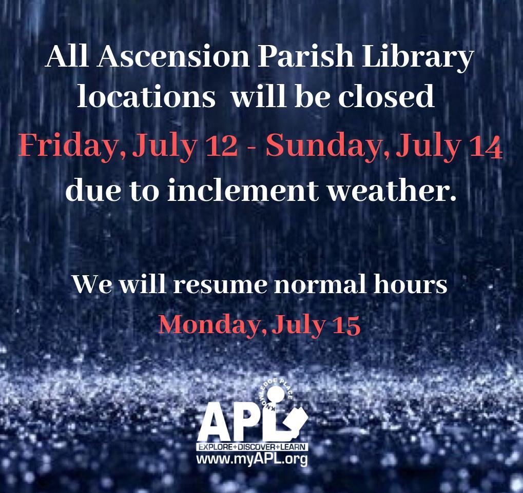 Ascension Parish Library (@myAPLibrary) | Twitter