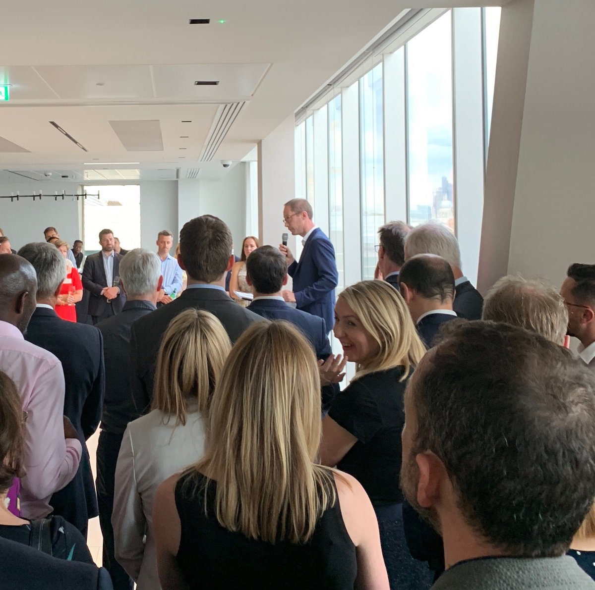 James Cooksey, head of Central London @thecrownestate summer party thanks suppliers and explains why innovation and sticking close to customers is the only option for their business #customerexperience