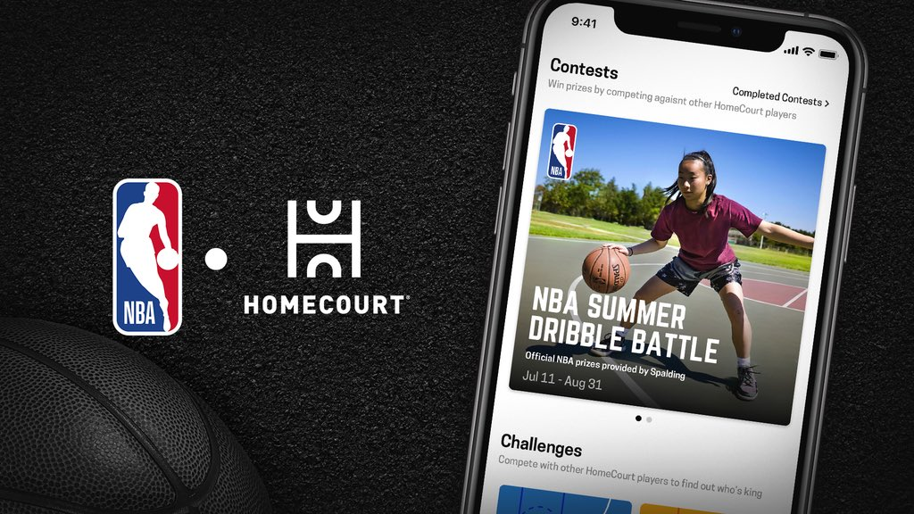 Show off your dribbling skills in the NBA Summer Dribble Battle for a chance to win a Spalding basketball! #HomeCourtNBA   @HomeCourtai app: https://apps.apple.com/us/app/homecourt-the-basketball-app/id1258520424 …