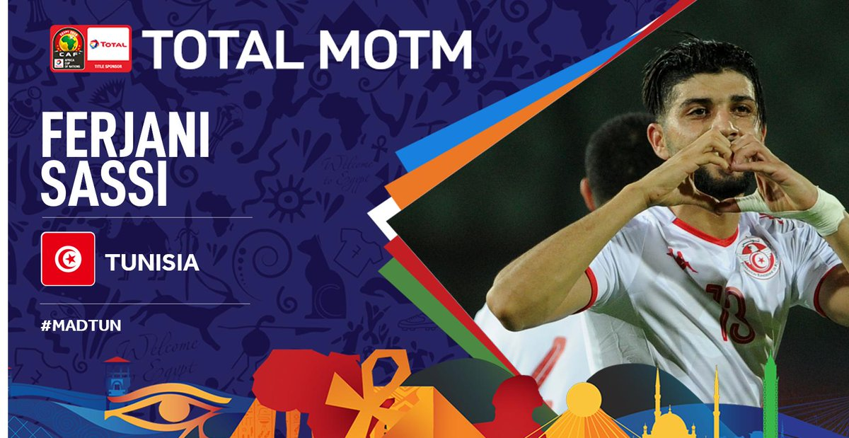 #TotalAFCON2019 And the winner of the Total Man of the Match is @FerjaniSassi! #MADTUN #FootballTogether<br>http://pic.twitter.com/civYEI7yd9
