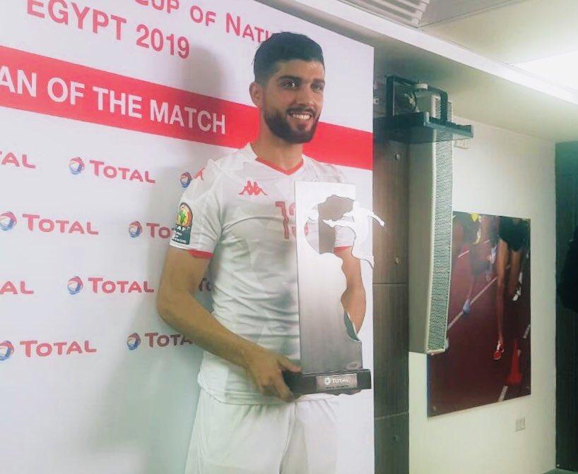 جائزة رجل المباراة لرجل الموسم. ❤️#تونس_مدغشقر