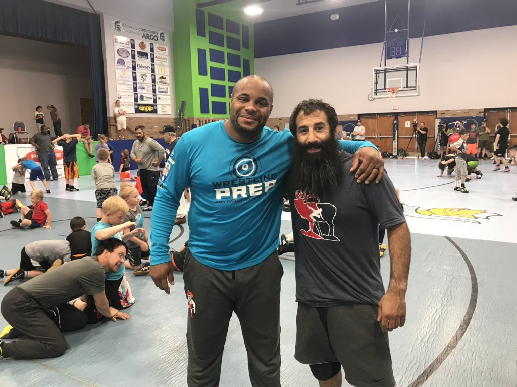 Congratulations to Zadick Bros Camp Clinician @dc_mma on his ESPY Award Best MMA Fighter! Awesome seeing you do great things!
