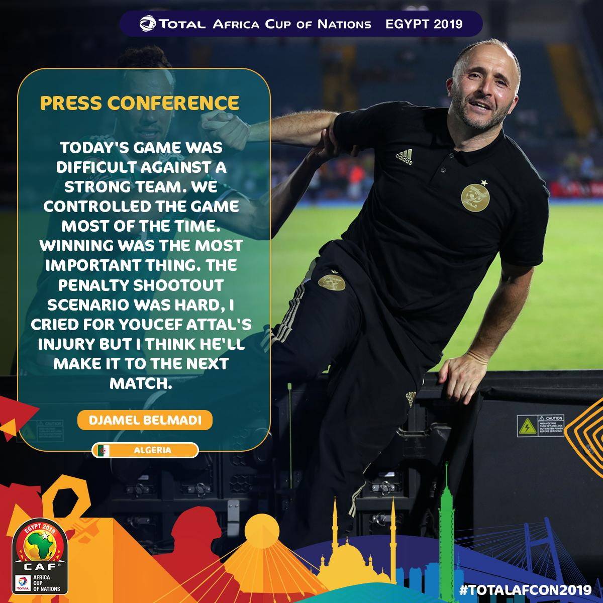 One manager was happy, the other not so much...  #CIVALG #TotalAFCON2019<br>http://pic.twitter.com/Q5jIbGRL4U