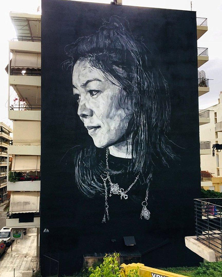 Mural by German Hendrik Beikirch aka ECB for ArtWalk 2019 in