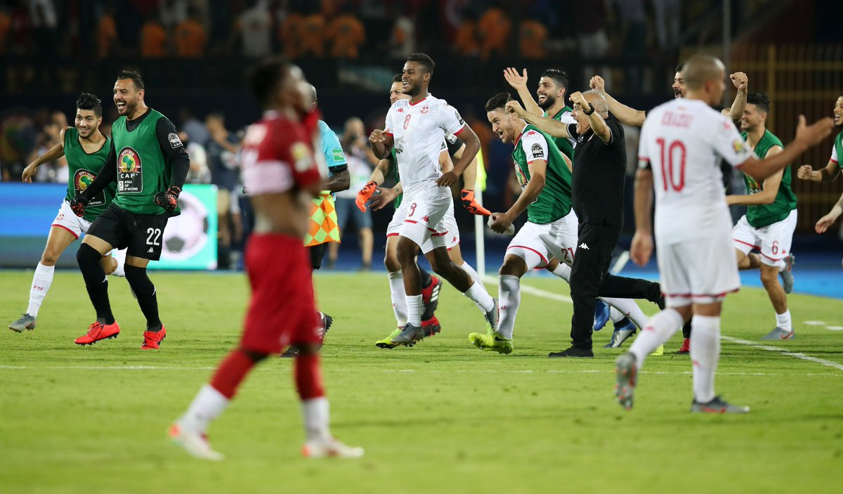 AFCON 2019: Tunisia Players Celebrate Madagascar Win In Their Dressing Room