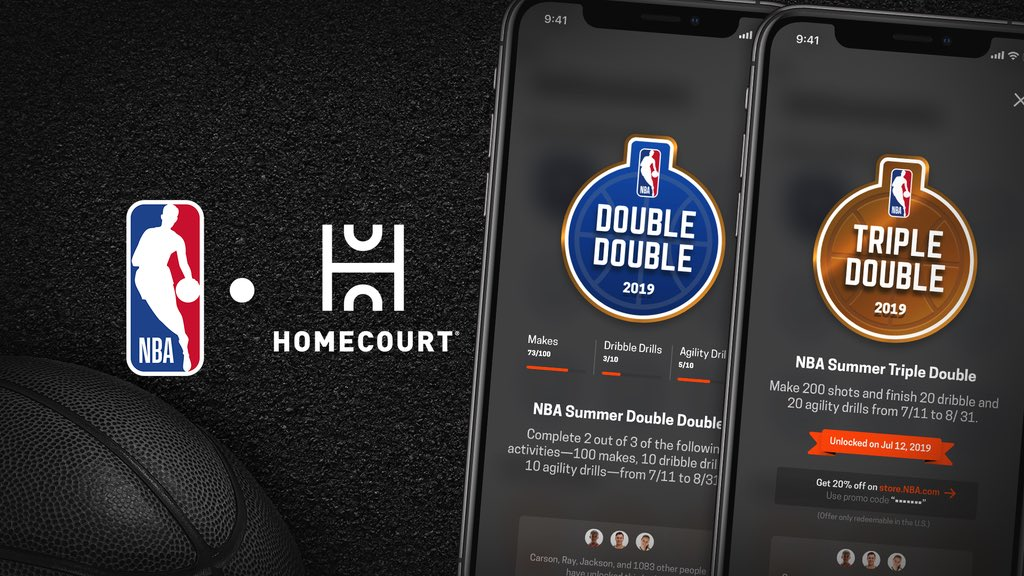 Test your skills in every aspect of the game – from shooting to dribbling to agility – and earn NBA Summer Achievement badges as you train. #HomeCourtNBA   @HomeCourtai app: https://apps.apple.com/us/app/homecourt-the-basketball-app/id1258520424 …