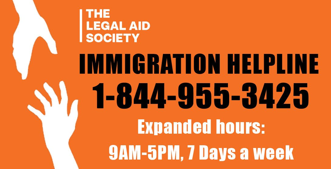In the face of the Trump Admin's pending #ICEraids, we have expanded our Immigration Helpline to operate 7 days a week. Please call 1-844-955-3425 for essential legal assistance if you or a family member need help. For more information, visit: bit.ly/2JwA77C. #AbolishICE