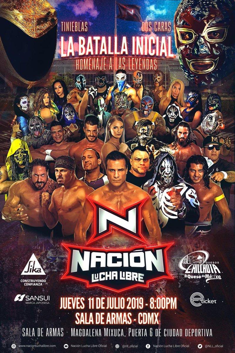 """Nación Lucha Libre: """"La batalla Inicial"""", su función debut 1"""