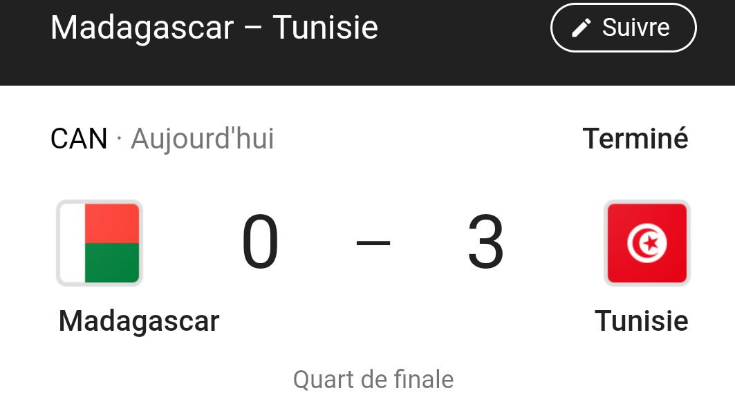 We made it Yesss 😭💪🇹🇳🇹🇳🇹🇳It was a really good game 🔥🔥🔥 3 GOALS  💪 PROUD OF YOU TUNISIA❤❤❤#تونس_مدغشقر #MADTUN#تونس