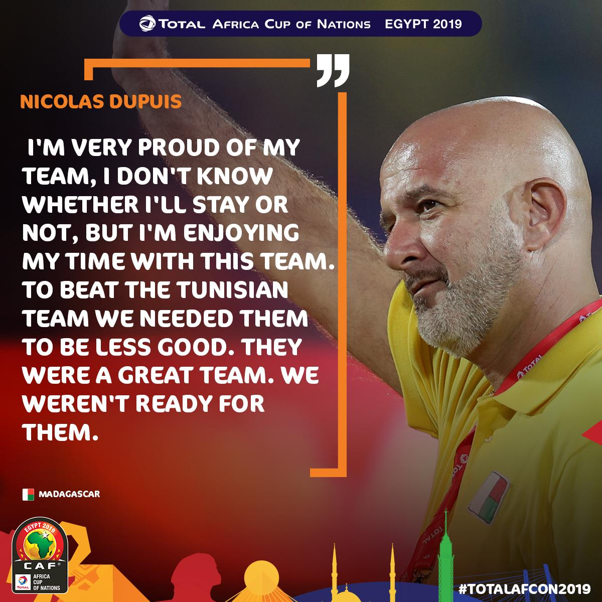 The managers spoke after their matches...  #MADTUN #TotalAFCON2019<br>http://pic.twitter.com/cdLJJ2ohEA