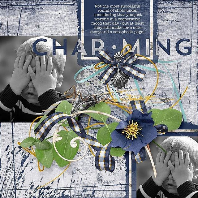 "Charming #scrapbook layout uses my ""Delightful - His"" mini #digitalscrapbooking kit available here: ➡ http://bit.ly/2JXYHOh  ⬅ . . . . . #memorykeeping #papercrafts #projectlife #memorybook #photoshop #photoediting #photography #portrait #digiscrap… http://bit.ly/32eZ2VU"