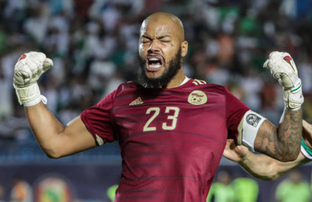 Rais M'Bolhi was outstanding against Ivory Coast. He made 4 crucial saves in the first half that kept Algeria in the game, including tipping Gradel's shot onto the post. Then in the penalties, he saved Bony's penalty. A true king. <br>http://pic.twitter.com/RTyc7z0GQa