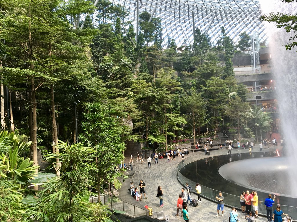 RT @FabriquelaCite Spectacular Changi Airport Jewel's waterfall and gardens attract over 60,000 people a day and have become a major hangout for Singaporeans #FabCite